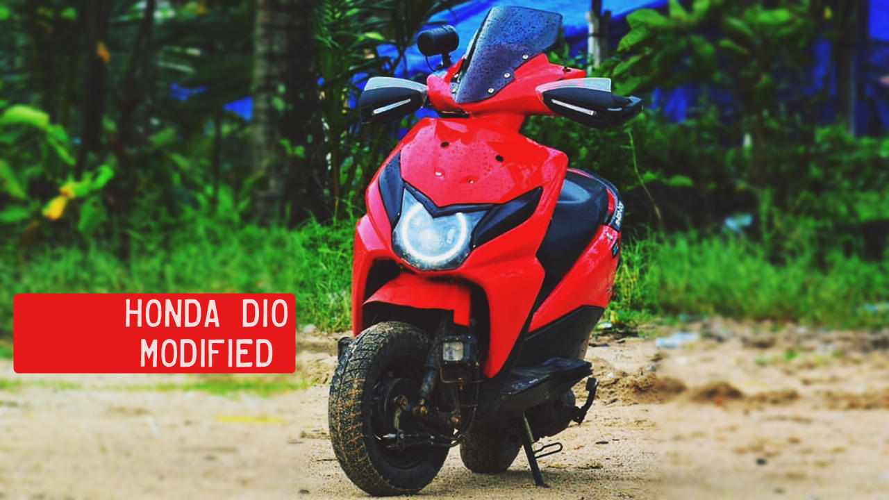 Honda Dio Modified red