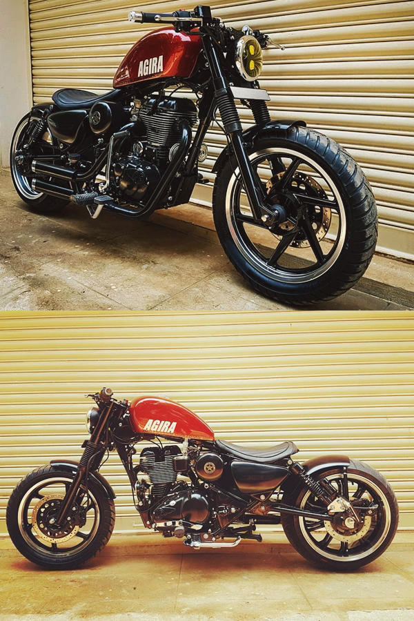 Modified Royal Enfield Classic 350 Agira Custom