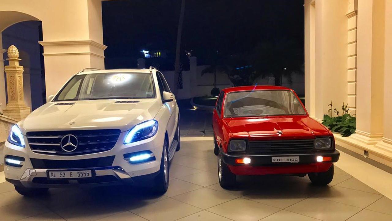 Red Maruti 800 custom