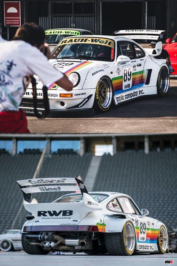 Classic Porsche 964 white custom