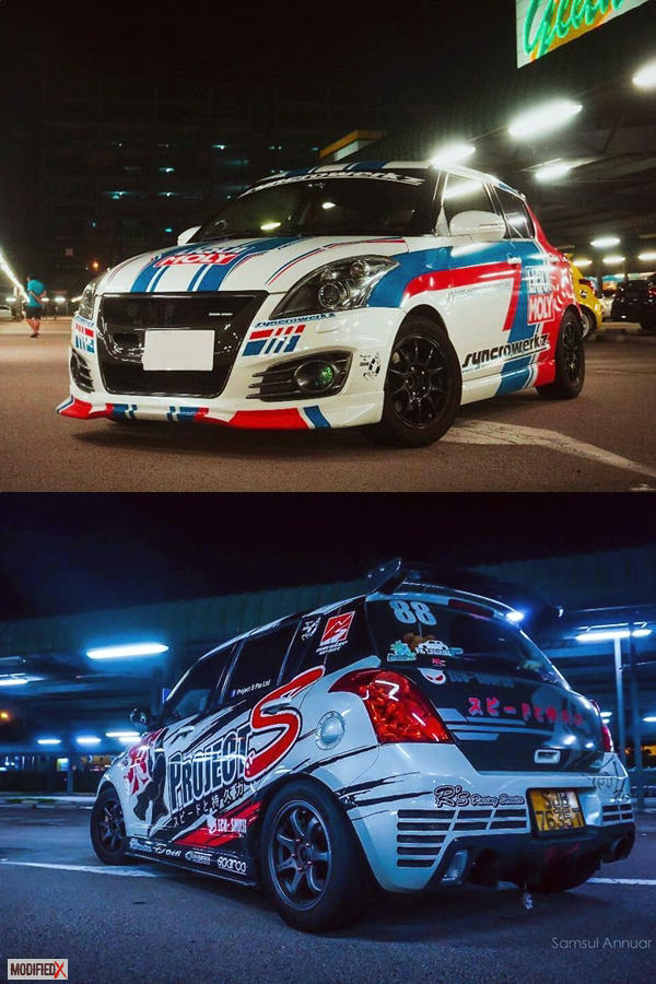 Custom Swift Project S decals body kit