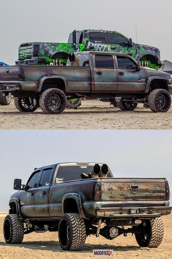 Custom Truck Rust wrap - GMS Sierra LBZ Classic