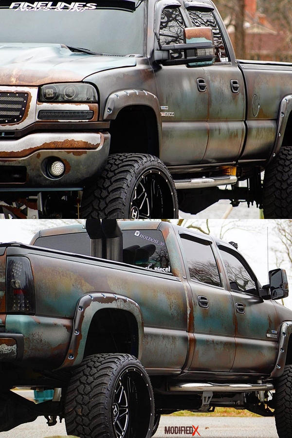 GMC Sierra rust wrap classic custom