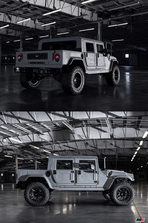 Military spec grey Hummer