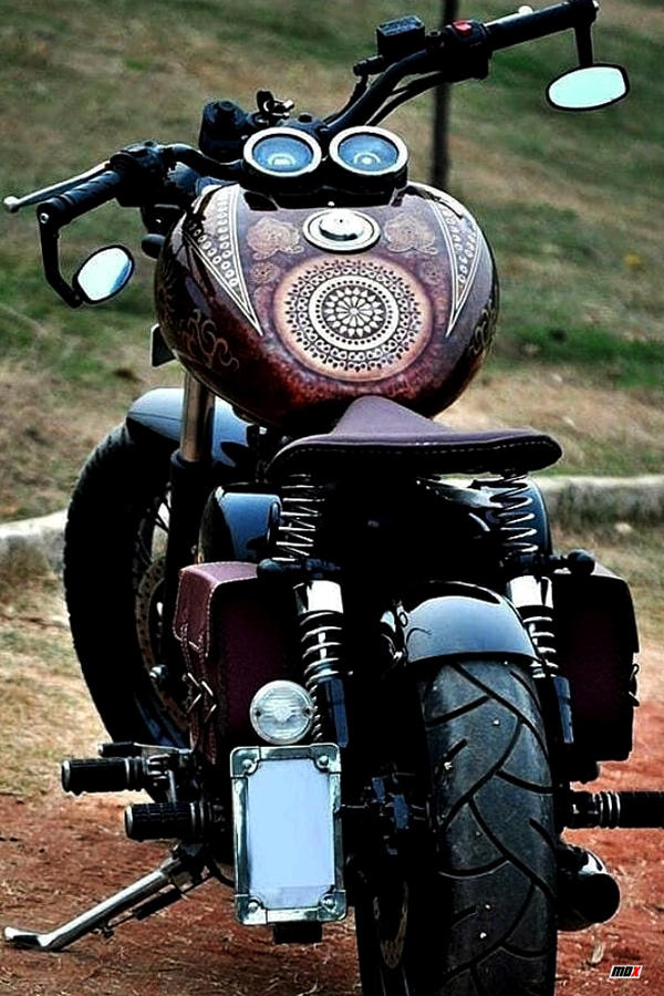 Modified Royal Enfield Classic 350 tank sticker