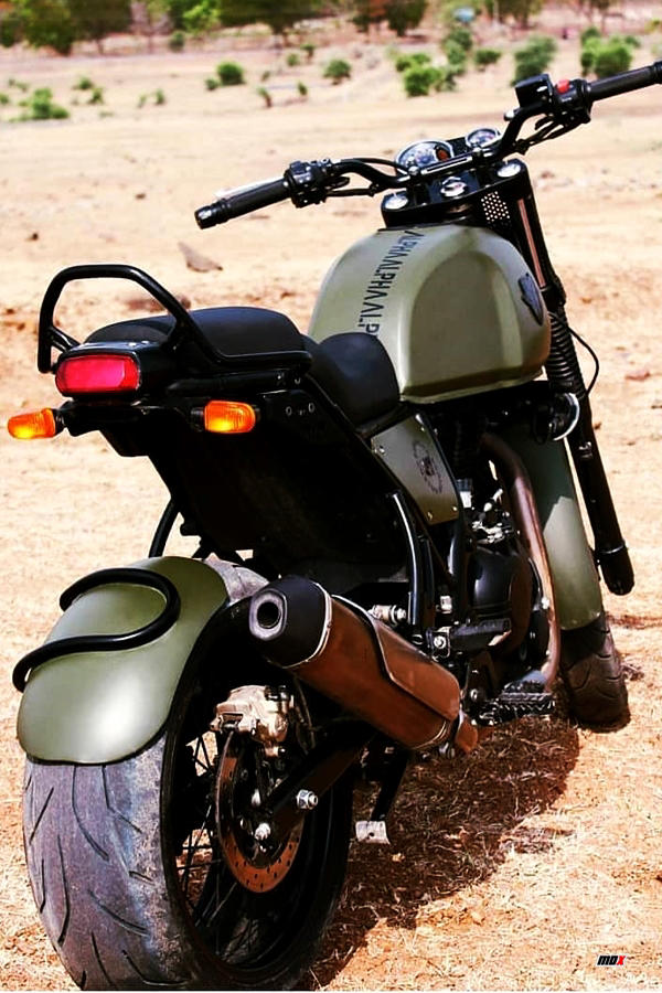 Royal Enfield Himalayan Army green custom