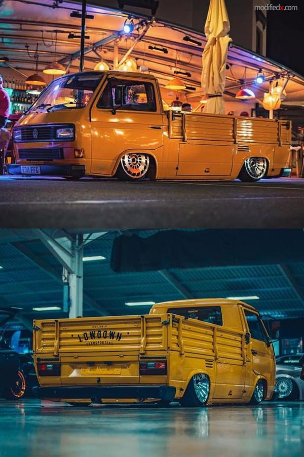 Slammed Volkswagen T25 transporter truck