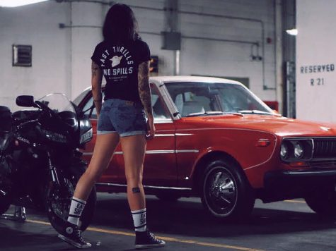 Superliza asian girl love bikes and cars - model