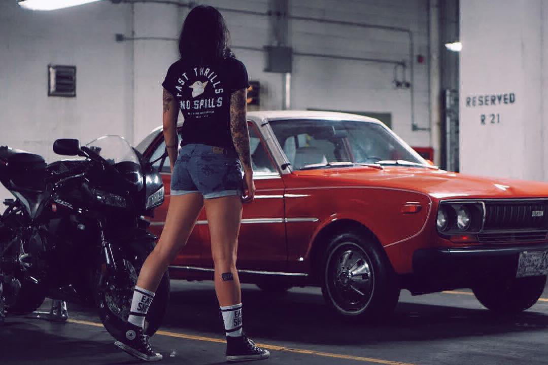 Superliza asian girl love bikes and cars - model