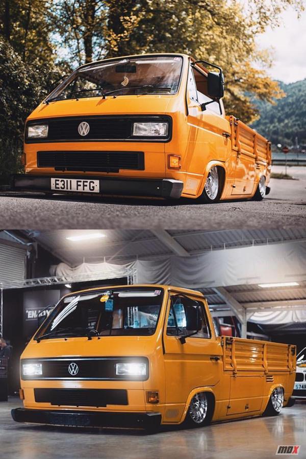 Volkswagen truck T25 hydraulic body drop modified