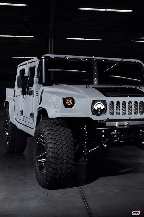 White Military spec Hummer