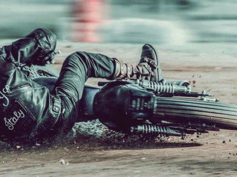 Motocross rider crash