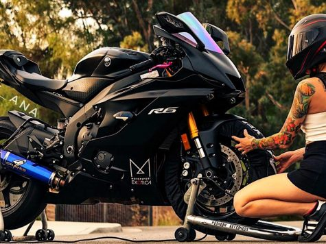 2017 Custom Yamaha R6 Black Purple and girl