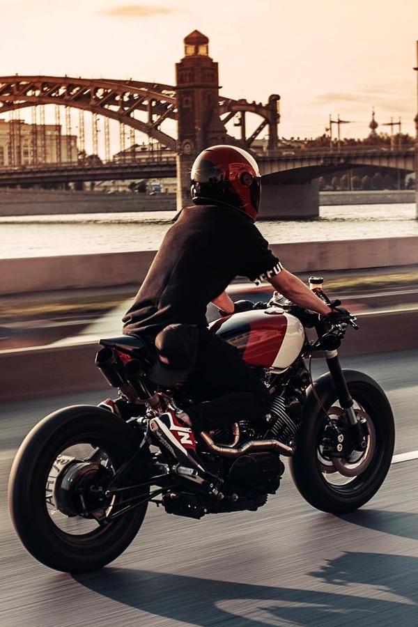 Custom Yamaha XV750 rider