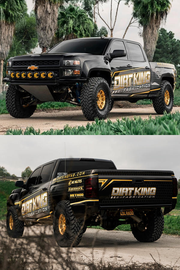 Lifted Chevy Silverado Custom 2WD Dirt King Fabrication