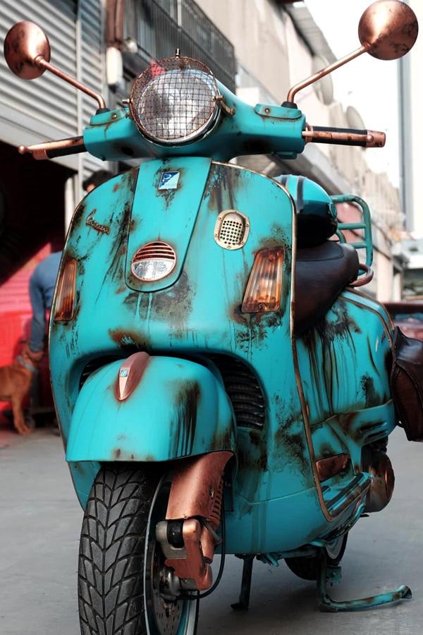 Rustic Wrap Vespa scooter classic