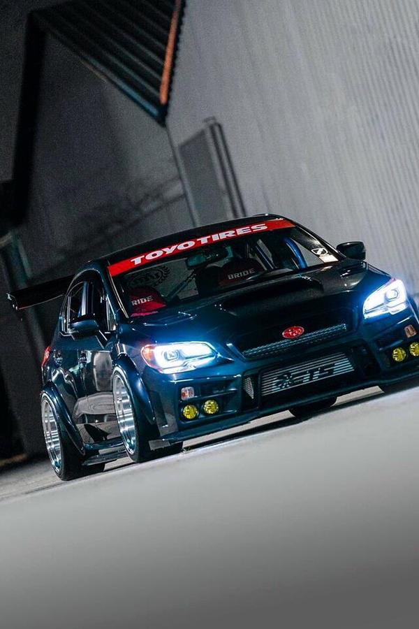 Custom Subaru STi 2016 black