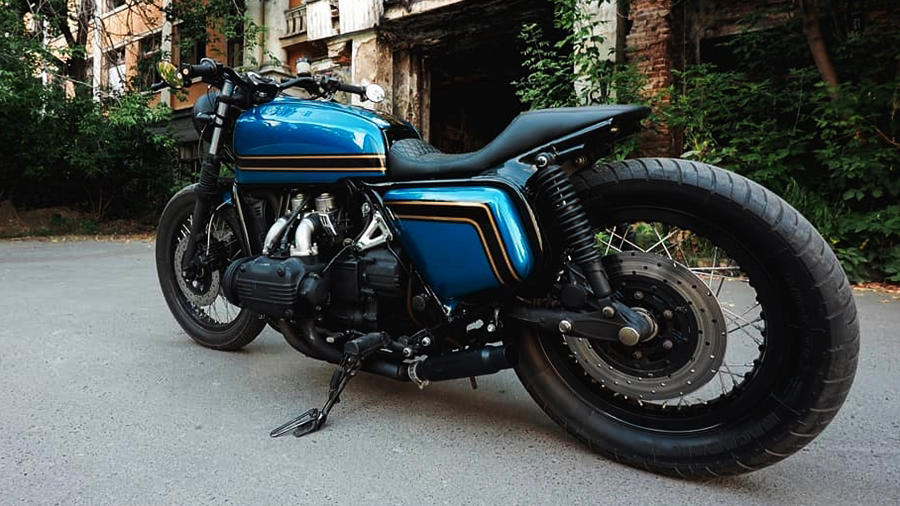 Modified Honda GL 1000 blue Cafe Racer