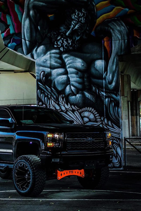 Custom Chevy Silverado mobile wallpaper