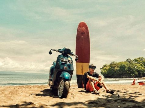 Custom Vespa ride lifestyle beach