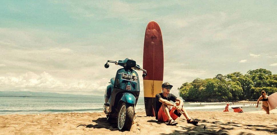 Custom Vespa ride lifestyle beach