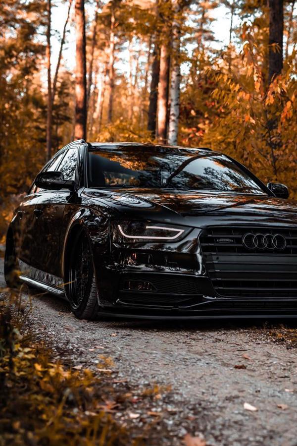 Slammed Audi A4 black