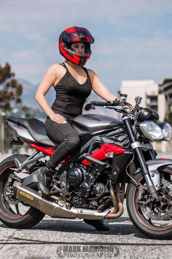 Annette Carrion 2015 Triumph Street Triple R