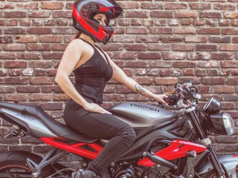 Annette Carrion and her 2015 Triumph Street Triple R