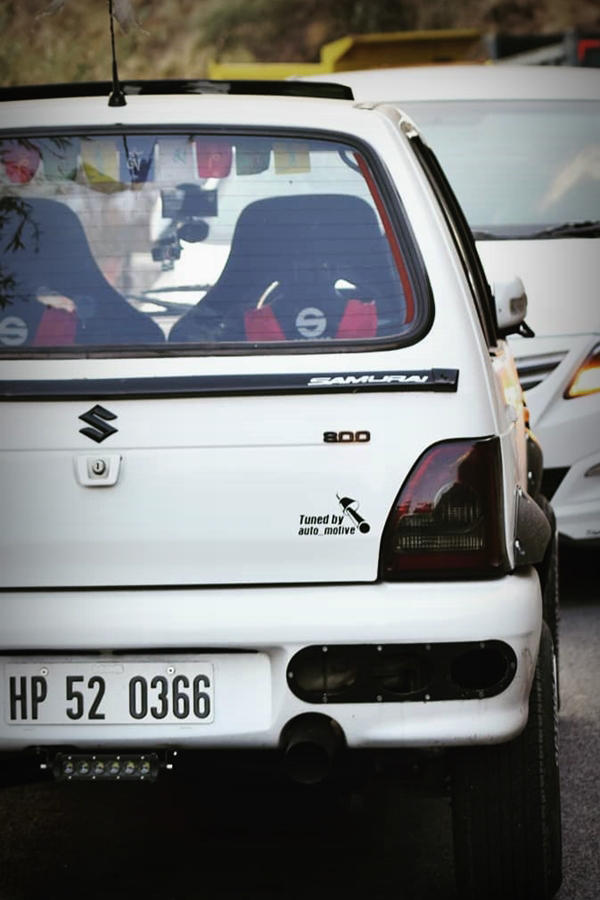 Modified Maruti Suzuki 800 rear