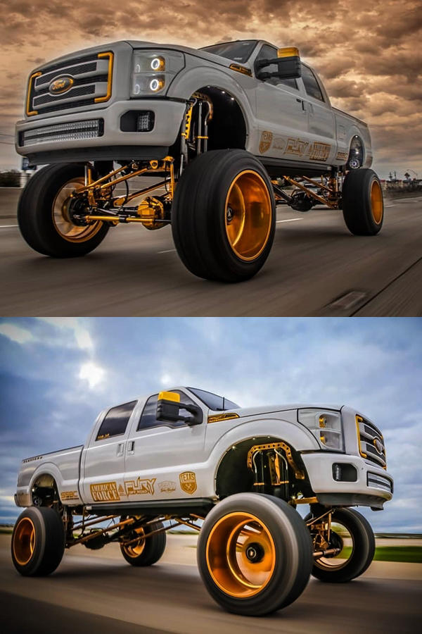 Custom Superduty Ford F250 Gold rims