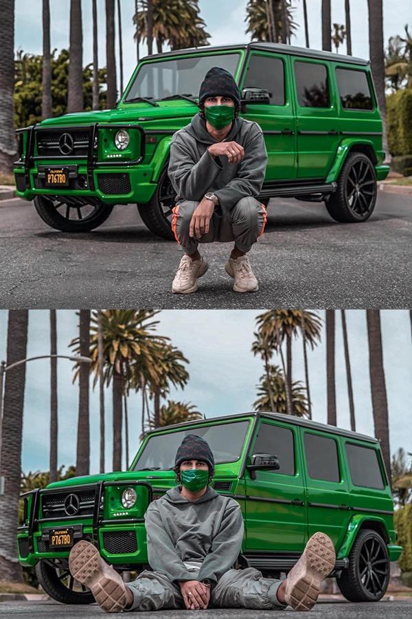 Green Mercedes G Wagon Custom paint