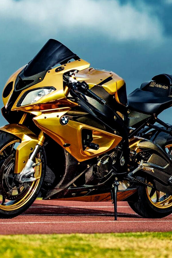 Custom BMW S1000RR Gold Wrap