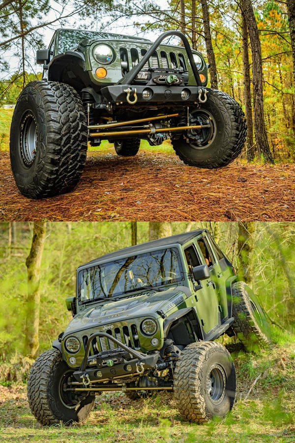 Jeep going Offroad