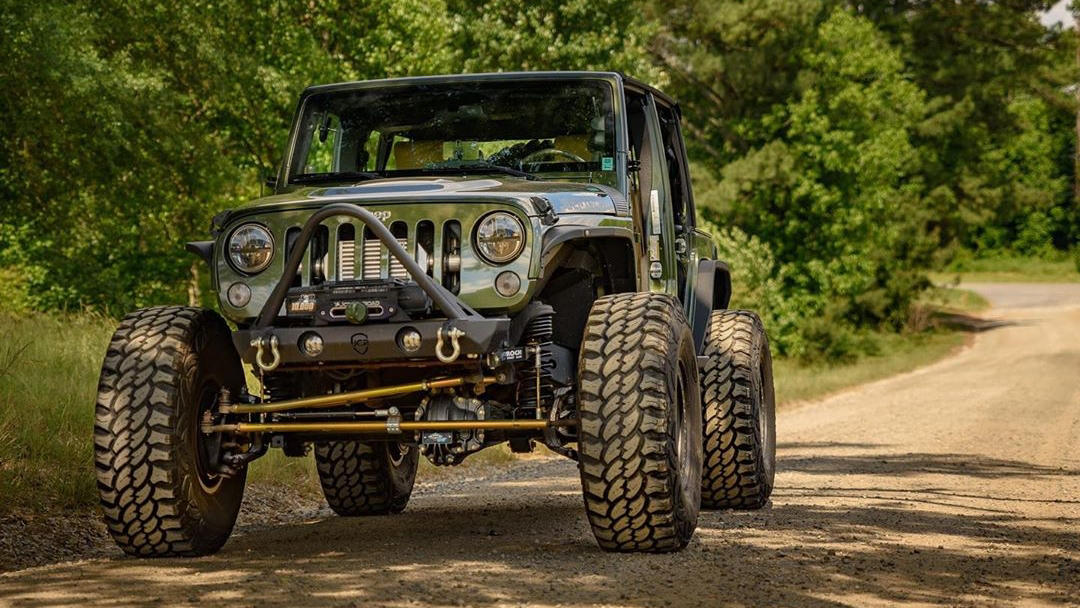Jeep Wrangler with big tires