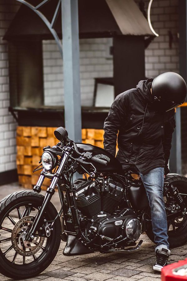 Motorcycle rider and helmet