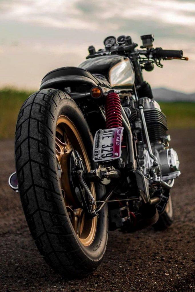 Custom CB750 rear