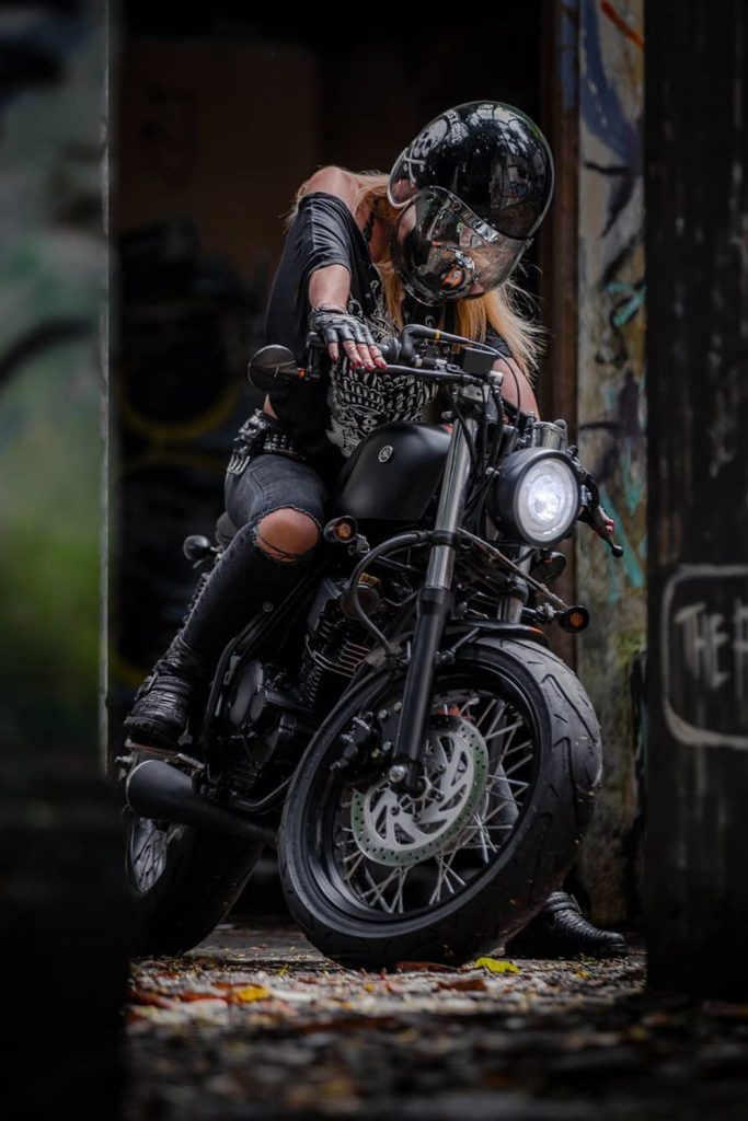 Moto girl with attitude