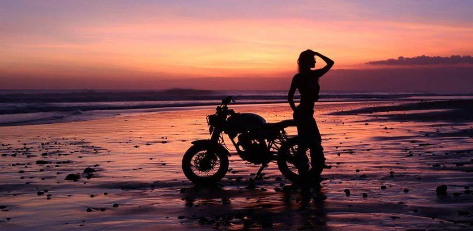 Beach bike girl