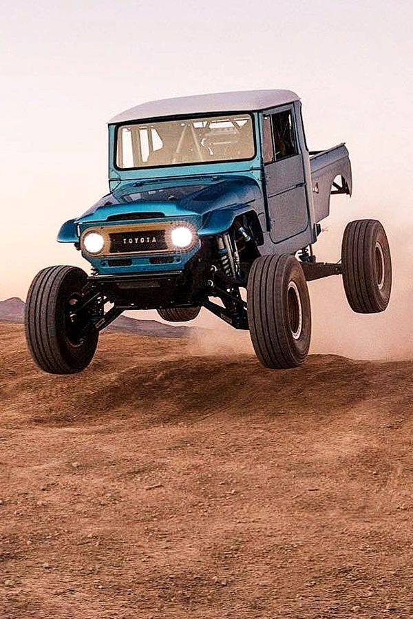 Offroad toyota truck jumping