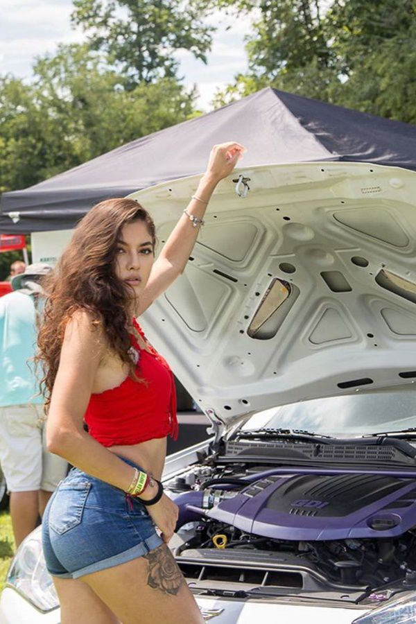 Hot girl mechanic