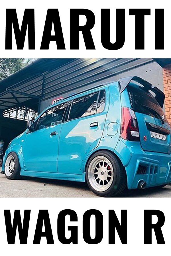 Blue Maruti Wagon R body kit