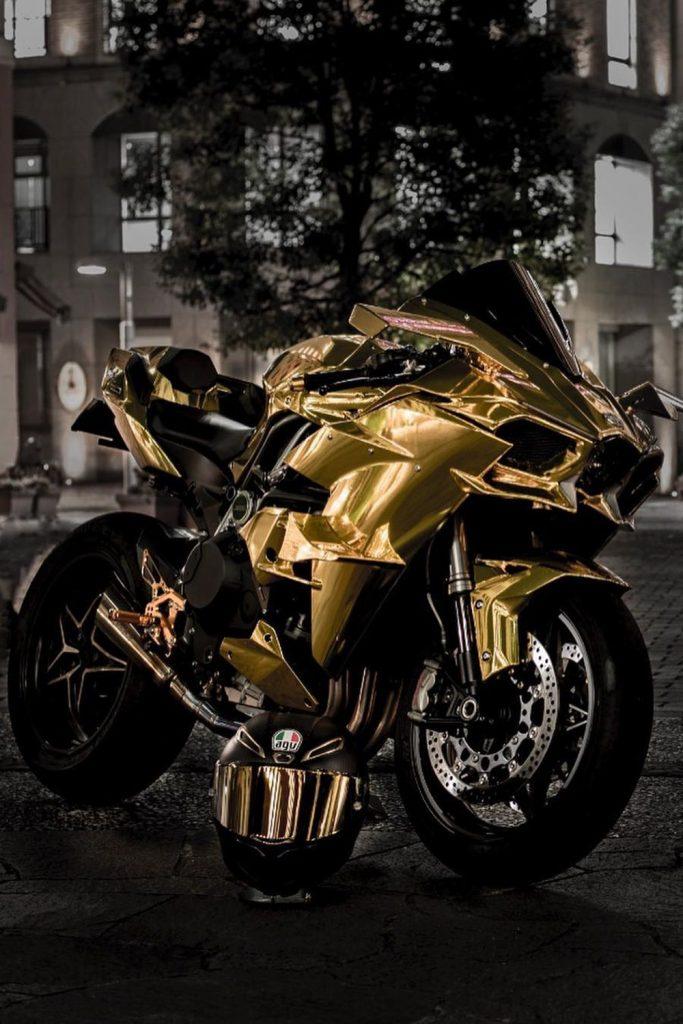 custom gold superbike