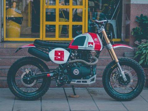 Malboro theme colour motorcycle