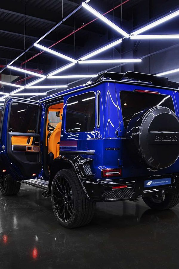 Big blue Brabus Mercedes SUV