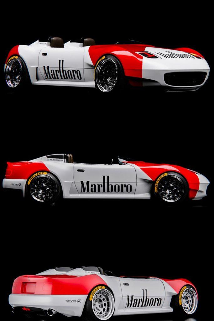 Marlboro Miata red and white custom
