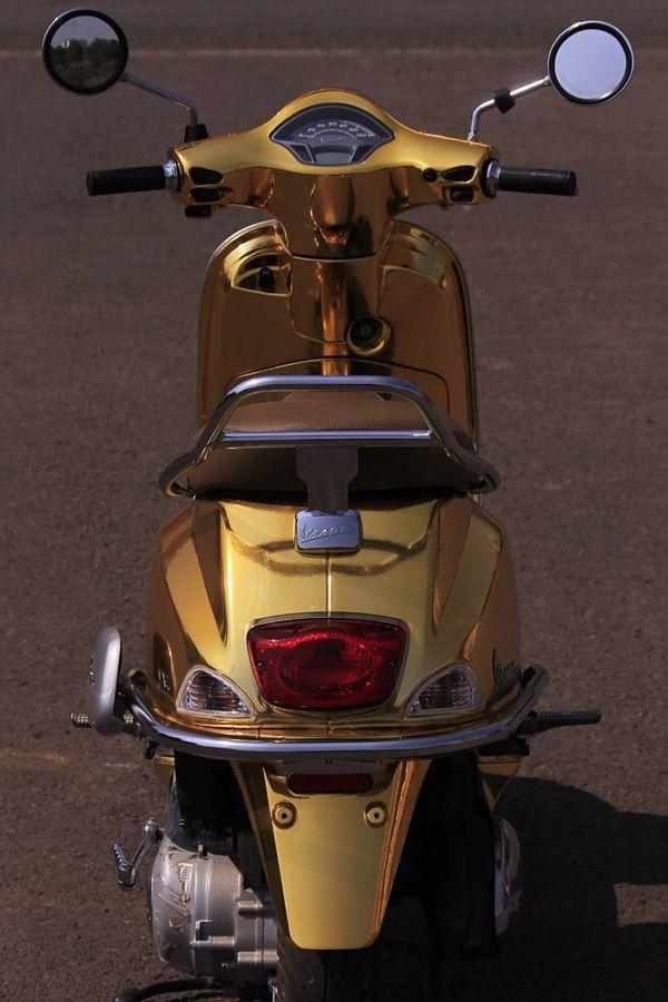 Vespa rear golden colour