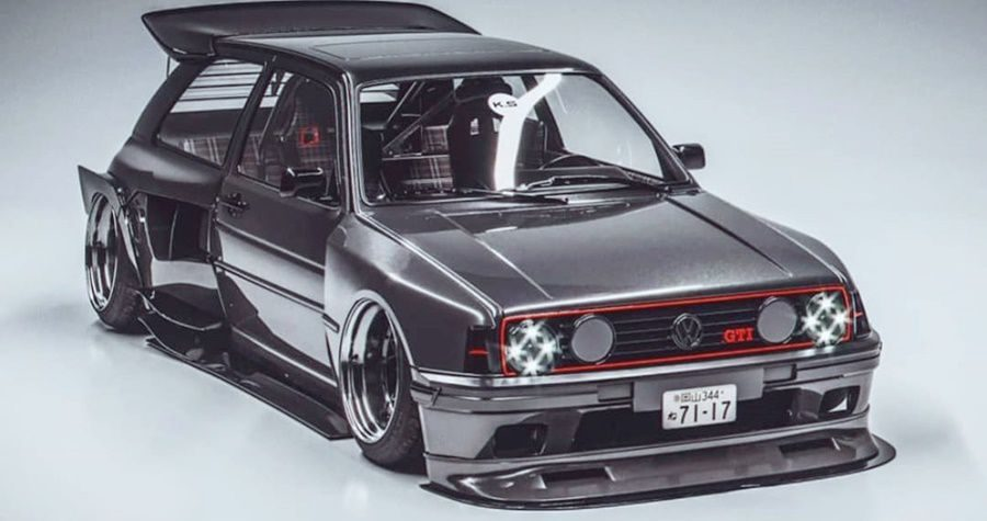 vw golf modification design