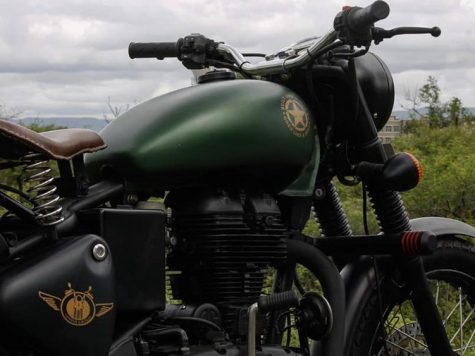 Modified Royal Enfield Classic Green