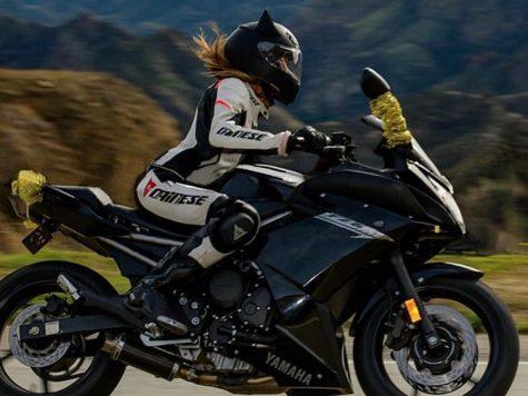 Rider girl and helmet