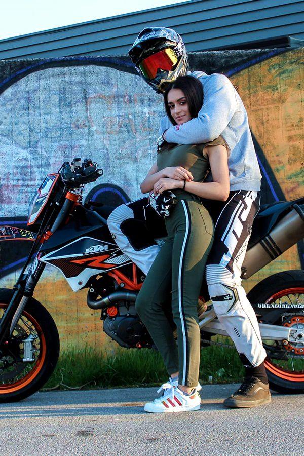 bike rider holding a women